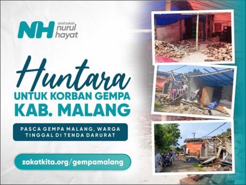 Huntara untuk Penyintas Gempa Malang